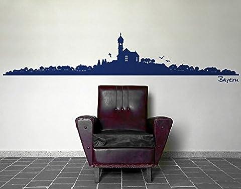 Wall Decal no.SF493 Bavaria Silhouette, Colour:Light Rose;Dimensions:90cm x