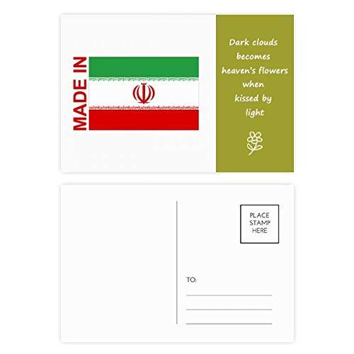 DIYthinker Gemacht im Iran Land Liebe Poetry Postkartenset dankt Karte Mailing Side 20pcs 5.7 Zoll x 3.8 Zoll Mehrfarbig
