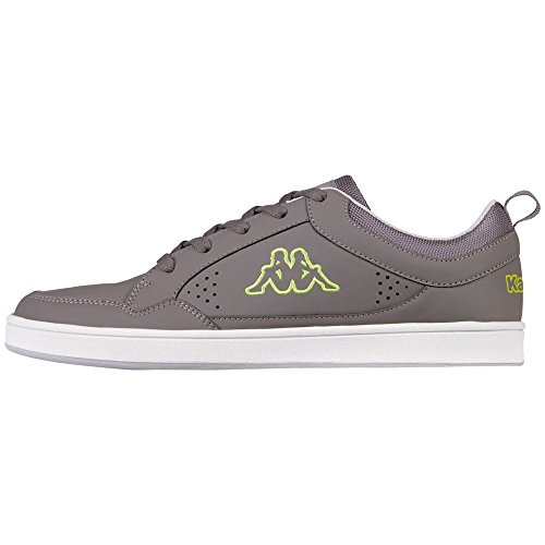 Kappa Herren Forward Low Sneaker Grau (1333 Anthra / Lime)