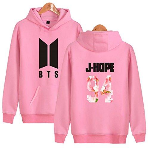 SERAPHY Unisex BTS Felpe con cappuccio Bangtan Boys Felpa con Pile Suga Jin Jimin Jung Kook J-Hope Rap-Mostro V rosa-94-J HOPE