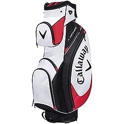 Calaway X Series Bolsa para Carro de Golf, Unisex Adulto, Blanco / Negro / Rojo, Talla Única