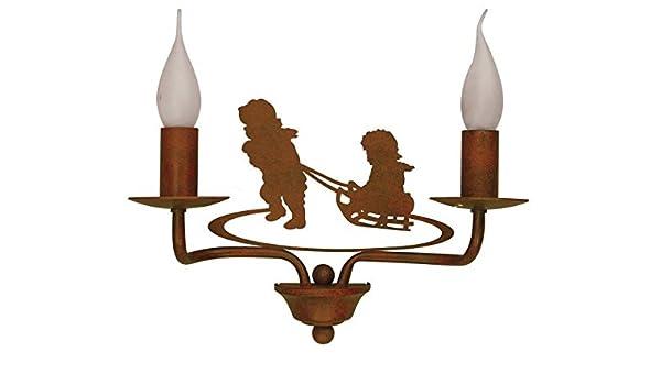 Applique ferro battuto luci bambini lampade ryckaert amazon