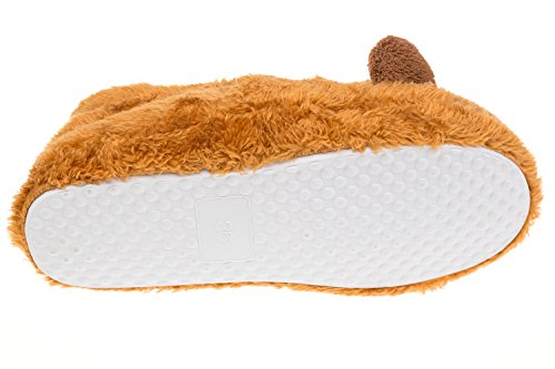 Gibra ® damenhausschuhe avec semelle blanche-marron-taille 36 Marron - Marron