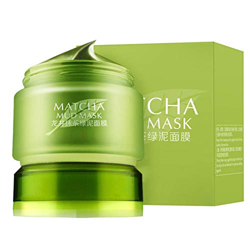 Gesichtsmaske aus grünem Tee Matcha reduziert Falten nährende feuchtigkeitsspendende Öl-Kontrolle Schrumpfende Poren Whitening Face Mask -