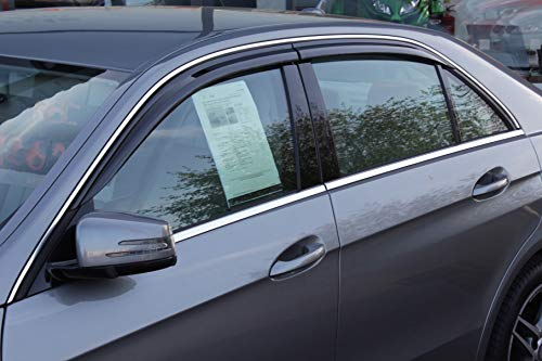 Autoclover - Windabweiser-Set für Mercedes E-Klasse; W212 ab 2009, 4-teilig (Rauch)
