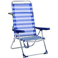 Alco 1-670 - Silla Cama Playa Aluminio Respaldo Alto Color 56