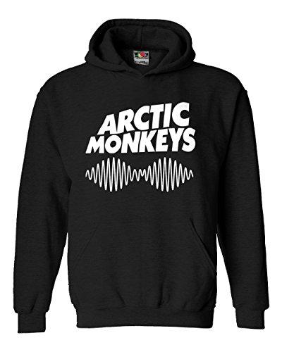 """Felpa Unisex """"Arctic Monkeys""""- Felpa con cappuccio rock band LaMAGLIERIA, M, Nero"""