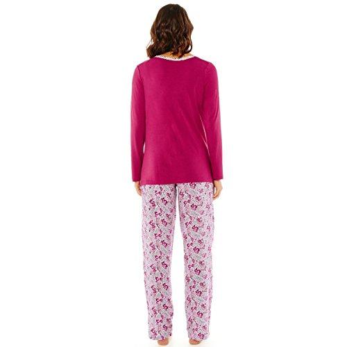 Pomm'poire - Pyjama framboise/ivoire Paradise - Femme Rose