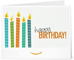Happy Birthday (Candles) - Printable Amazon.co.uk Gift Voucher