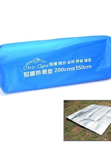ZQ Camping-Matte/Turnmatte Schlafsack (Silber)-A-Test-Feuchtigkeit/Blasenfolie/A-Test