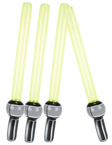 4 sabres laser gonflables en plastique - taille - Taille Unique - 211683