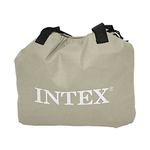 Intex Luftbett Deluxe Pillow grey-blue Twin (230 V), grau, 99 x191 x 43 cm -