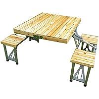 Amazon.es: mesa plegable con sillas dentro: Jardín