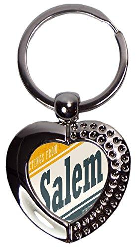 LEotiE SINCE 2004 Schlüsselanhänger Stadt Salem USA Herz Bedruckt