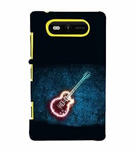 EPICCASE Sparkling Guitar Mobile Back Case Cover For Nokia Lumia 820 (Designer Case)