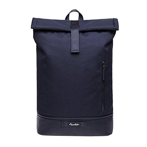 """KAUKKO Rucksack Roll Top Backpack Lässiger Vintage Tagesrucksack Herren Laptop Schulrucksack fit 15"""" Notebook Bag für Wandern Reisen Camping"""