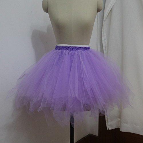 Sunzeus Kurze Röcke für Mädchen Bunte Tutu Rock Unterwäsche Günstige Frauen Oberbekleidung Sommer Strand Rock Petticoat Lila