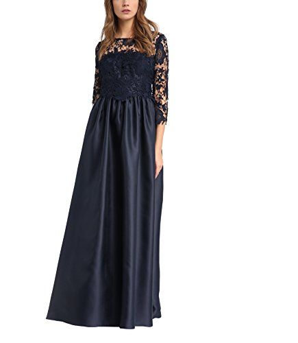 APART Fashion Damen Kleid 33868, Blau (Nachtblau), 40