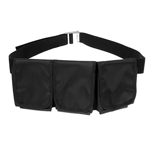 Sharplace Tauchgürtel Bleigürtel mit Taschen Schwarz - 3 Taschen