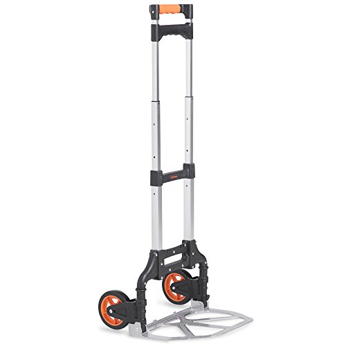 VonHaus Hand Truck/Sack Truck - Multi-Functional Folding Aluminium Alloy Sack Cart & Dolly For Convenient Lifting & Moving At Home, Office & Outdoors 70kg Capacity