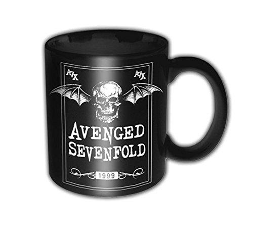 Avenged Sevenfold Tazza Morte Bat Band Logo ufficiale nero opaco, taglia unica