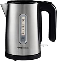 AmazonBasics Kettle, 1.5 L - Brushed Stainless Steel