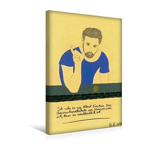 Calvendo Premium Textil-Leinwand 30 cm x 45 cm hoch, Zitate Einstein | Wandbild, Bild auf Keilrahmen, Fertigbild auf Echter Leinwand, Leinwanddruck Kunst Kunst