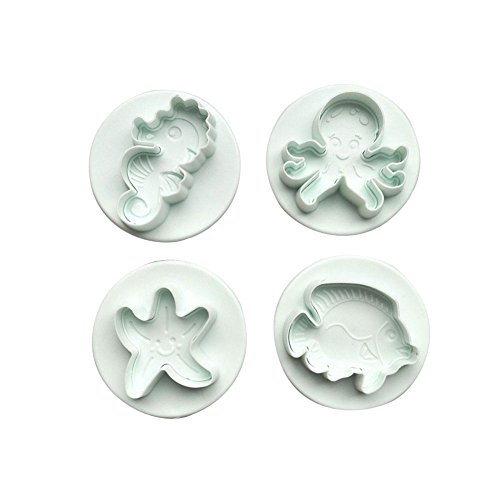 ndant Kuchen Cookie Cutter Dekorieren Seepferdchen Octopus Seestern Tropische Fische Form Sugarcraft Mould Backformen-Set ()