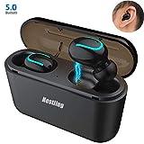 Bluetooth Kopfhörer,Nestling Wireless In Ear Bluetooth 5.0 Headset Stereo Sport Kabellose Bluetooth Kopfhörer mit Ladekästche