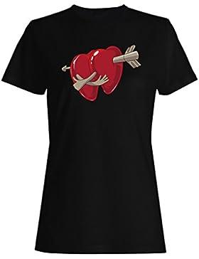 I amor usted novedad, divertido, vintage, arte camiseta de las mujeres zz22f