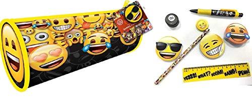Emoji Pre-riempito matite, penne, matite, gomma, righello, temperamatite e blocco di foglietti promemoria