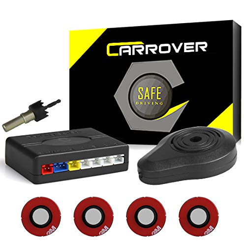 CAR ROVER Parcheggio Auto sensori del Sistema Bibi Segnale Acustico con 16.5mm UFO a Forma di 4 universali Originale sensori(Argento)