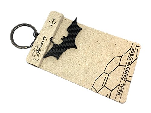 Portachiavi in fibra di carbonio Batman Super Heroes Nero Justice