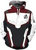 OLIPHEE Felpe Con Cappuccio The Avengers: Endgame Felpa Costume Cosplay Giacca Con Cappuccio Sportiva 3D Cool per Ragazzi e UomoMateriale: PoliammideTaglia: S, M , L, XL, 2XL, 3XL, 4XLRiferimento: S: Busto 92cm---Lungo 65cm---Altezza 1...