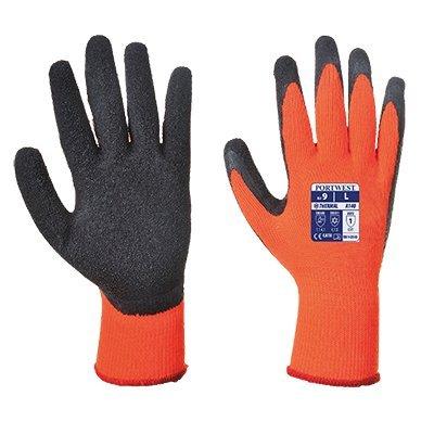 Portwest a140orbm Handschuh Grip Thermo-Das Extremer Kälte, Orange/Schwarz, M/8