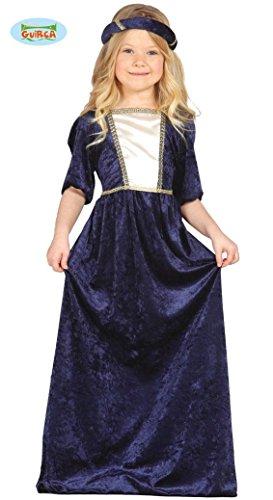 Mittelalterliche Mädchen Kostüm Prinzessin (KINDERKOSTÜM - BURGDAME - Größe 142-148 cm ( 10-12 Jahre ), Mittelalter mittelalterlich Ritterturnier Burgfest Reiterspiele)