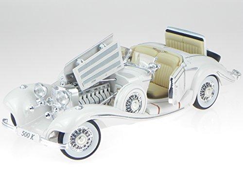 Mercedes 500 K Specialroadster 1936 weiss Modellauto 36055 Maisto 1:18