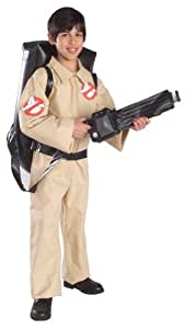 Rubie's Official Ghostbusters Childs Fancy Dress Costume with Inflatable Proton Pack Small