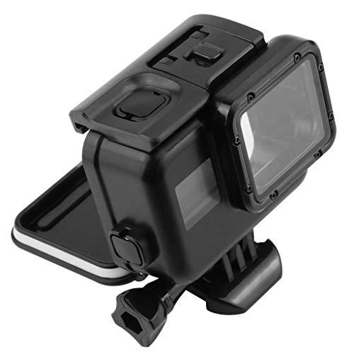Estuche Impermeable para GoPro Hero 7(Sólo negro) Carcasa Protectora para Bucear, Caja Protectora Impermeable Alojamiento Incluye Soporte y Tornillo for Go Pro Hero7 carcasa (Negro)
