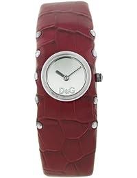 D&G Dolce&Gabbana Damen-Armbanduhr COTTAGE SS SLV DIAL RED STRAP DW0355