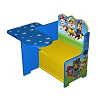 Paw Patrol Wooden Kids Work Bench & Storage. Table Chair Seat Set- Everest, Chase, Marshall, Skye, Rocky, Zuma. Workstation Homework