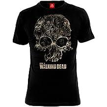 The Walking Dead Skull Black T-Shirt, Camiseta para Hombre