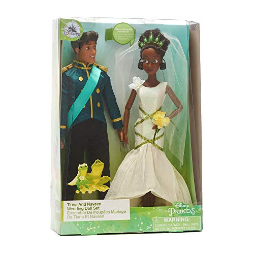 +d Disney Official Store Princess Tiana & Naveen Wedding Classic Doll Duo Set (Und Der Frosch-outfits Prinzessin)