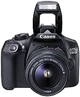Canon EOS 1300D Kit Fotocamera Reflex Digitale da 18 Megapixel con Obiettivo EF-S DC III 18-55 mm, Wi-Fi, NFC, Nero/Antracite