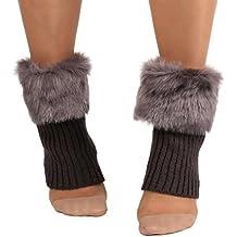 Calcetines,RETUROM La nueva manera de las mujeres calientes del invierno Calcetines Calentadores de piernas Crochet calcetines cortos de arranque