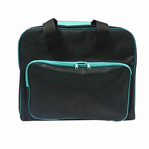GK Sac de transport rembourré noir pour sac de machine à coudre avec poche Craft Storage Tote Bag - Étui de transport avec pochette de rangement et poignées - Ajustement universel