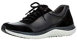 Gabor Damen Sneaker 36.981, Frauen Low-Top Sneaker,Halbschuh,Schnürschuh,Strassenschuh,Business,Freizeit,schwarz,42 EU / 8 UK
