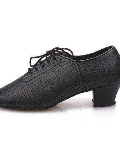 ShangYi Chaussures de danse (Noir) - Non personnalisable - Gros talon - Similicuir/Synthetic - Moderne