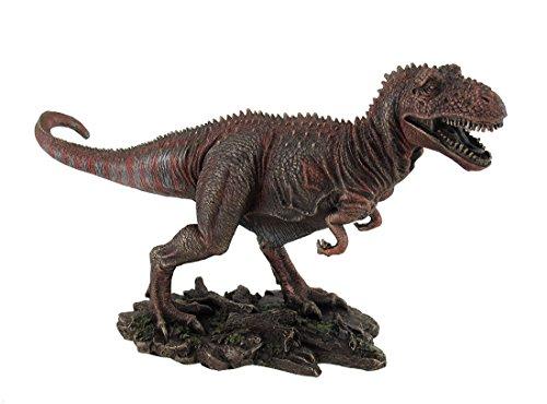 Menacing tirannosauro Rex finitura bronzo e colorati T-Rex statua - Accessori Per La T-rex Reptile