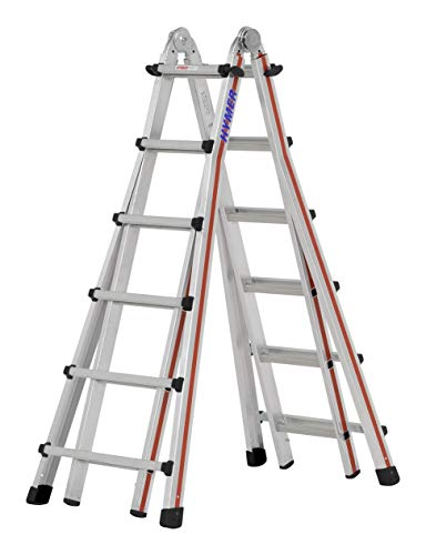 HYMER 404224 Teleskopleiter SC40, 4x6 Sprossen